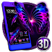 Download 3D Neon Butterfly Galaxy Theme 2.0.5 APK