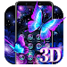 Download 3D Neon Butterfly Shiny Theme 1.1.3 APK