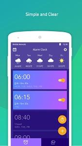 screenshot of Alarm Clock version 2.10.1.45