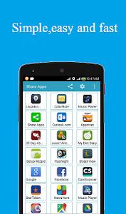 screenshot of Share apps version 1.0.0Z2