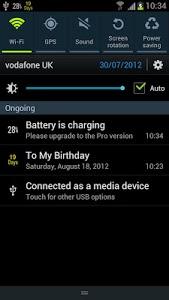 screenshot of Battery Percentage version 1.9.7