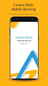 screenshot of Canara Bank Mobile Banking version 1.1.28