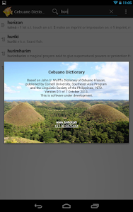 screenshot of Cebuano-English Dictionary version 1.2