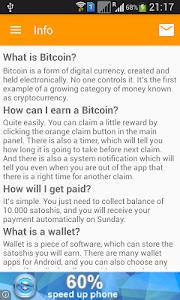 screenshot of Claim Bitcoin - Mobile Faucet version 3.1.1
