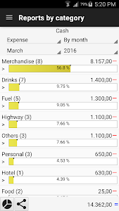 screenshot of Daily Expenses 3 version 3.1.16