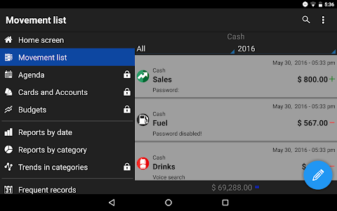 screenshot of Daily Expenses 3 version 3.1.22