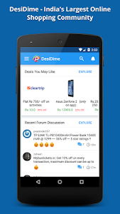 screenshot of DesiDime Deals & Coupons version 2.2.5