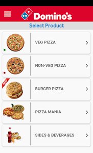 screenshot of Domino's Pizza version 3.3.8