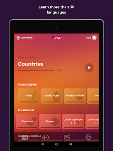 screenshot of Drops: Learn 31 new languages version 30.32