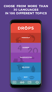 Download Drops: Learn Korean, Japanese, Chinese language 29.10 APK