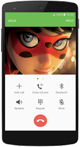 screenshot of Fake Call Miraculous Ladybug version 1.0