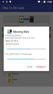 screenshot of Files To SD Card version 1.33