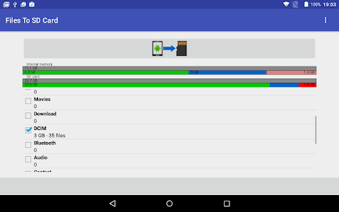 screenshot of Files To SD Card version 1.31