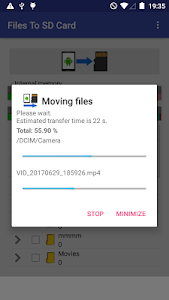 screenshot of Files To SD Card version 1.42