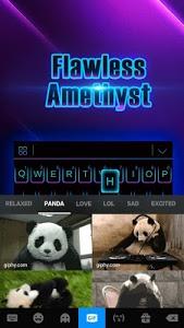 screenshot of Black Neon 3D Keyboard Theme version 72.0