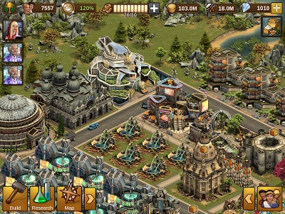 screenshot of Forge of Empires version 1.110.2