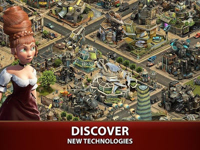 screenshot of Forge of Empires version 1.124.3