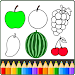 Download Fruit and Vegetables Coloring game for kids 3.0 APK