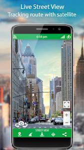 screenshot of GPS Live Street Map and Travel Navigation version 1.2.5