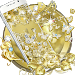Download Gold Butterfly Diamond Theme 1.1.15 APK