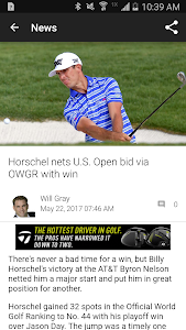 screenshot of Golf Channel version 4.5.19.56
