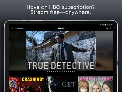 screenshot of HBO GO: Stream with TV Package version 19.0.1.157