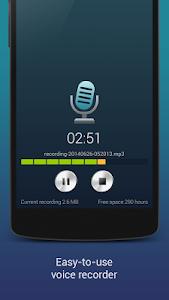 screenshot of Hi-Q MP3 Voice Recorder (Free) version 1.19.3