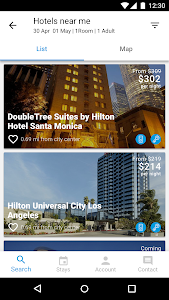 screenshot of Hilton Honors version 3.1.1