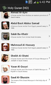screenshot of Holy Quran (HD) version 2.6