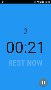 screenshot of Interval Timer version 1.2.1