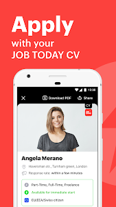 screenshot of JOB TODAY: Find Jobs, Build a Career & Hire Staff version Varies with device