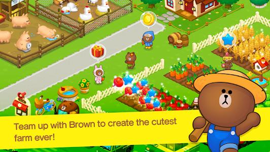 screenshot of LINE BROWN FARM version 1.3.6