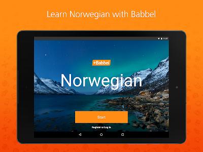 screenshot of Babbel – Learn Norwegian version Varies with device