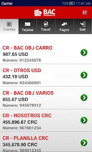 screenshot of Banca Móvil BAC Credomatic version 1.32