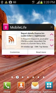 screenshot of MobileLife Widget for Phones version 3.13.111503.32