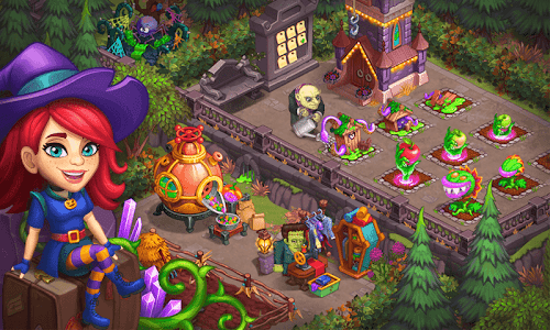 screenshot of Monster Farm: Happy Ghost Village & Witch Mansion version 1.18