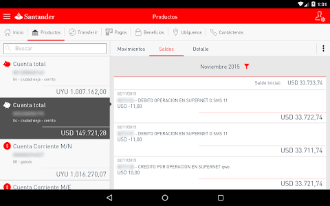 screenshot of Móvil Plus version 2.8.0