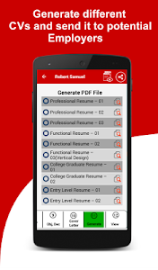 screenshot of Resume Builder Free, 5 Minute CV Maker & Templates version 4.9
