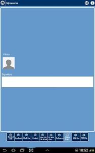 screenshot of My Resume Builder,CV Free Jobs version 3.4