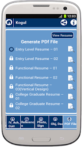 screenshot of My Resume Builder, CV Free version 2.7