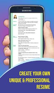 screenshot of Free Resume Builder - CV Maker & Templates Creator version 6.2