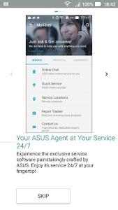 screenshot of MyASUS - ASUS support version 3.0.11