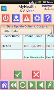 screenshot of MyHealth version 2.0.0