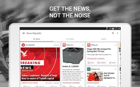 screenshot of News Republic – Breaking news version 6.8.5