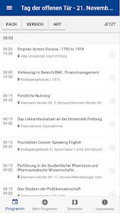 screenshot of Offene Tür - Uni Freiburg version 0.0.11
