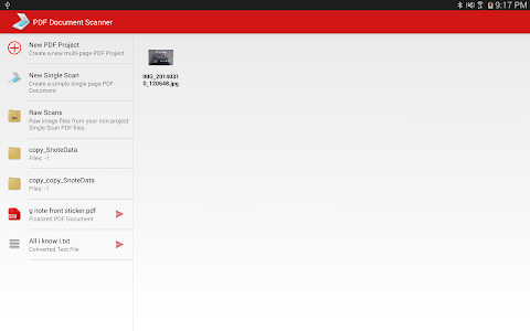screenshot of PDF Document Scanner Classic version 3.3.7