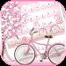 Sakura Pink Bicycle Keyboard Theme