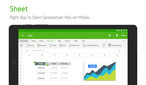 screenshot of Polaris Office - Word, Docs, Sheets, Slide, PDF version 7.3.42
