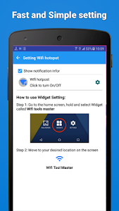 screenshot of Portable Wifi Hotspot - Wifi Tools Master version 1.1