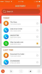 screenshot of QR code reader version 1.8.40